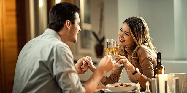 Cenita ideal para una noche romántica
