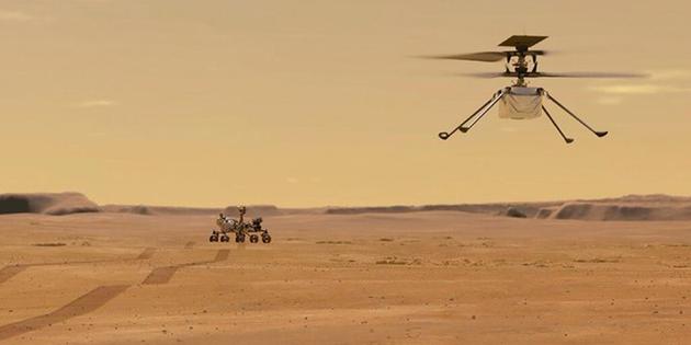 Marte a vista de pájaro