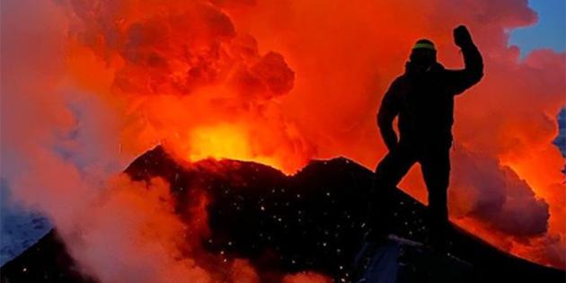 ¡Selfies en volcanes!