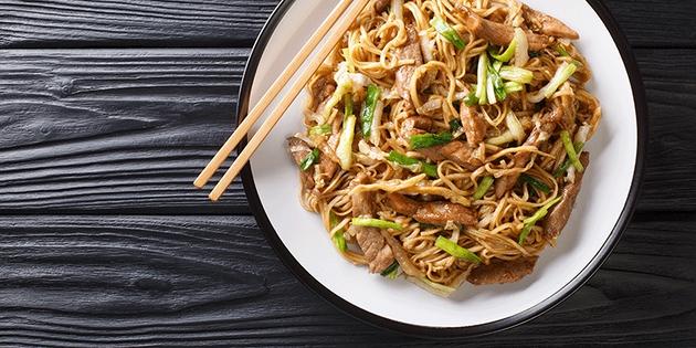 Noodles con verduras, ¡deliciosos!
